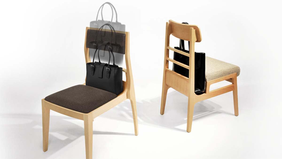 BAG-IN CHAIR スマートに荷物が収まる椅子「手荷物を置くところに困ったことはありませんか?」